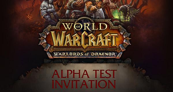 Alpha de Warlords of Draenor