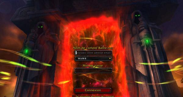 L'écran de connexion de Warlords of Draenor !