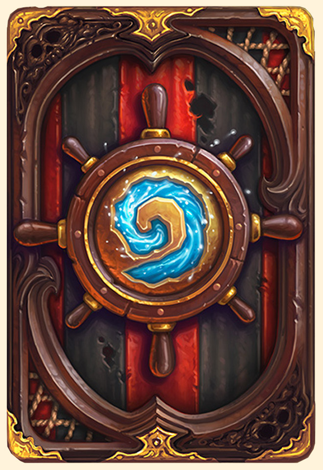 Dos de carte Hearthstone - Pirate - Saison 6