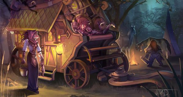 La Caravane de Fiona en fan art