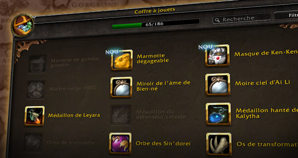 Jouets WoW : le guide complet