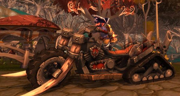 Deux Gnomes et le Chopper de la Horde