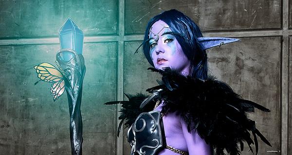 Koni et son cosplay Elfe de la nuit (Photo : Crazyball)