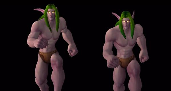Nouvelle animation de course des Elfes de la nuit