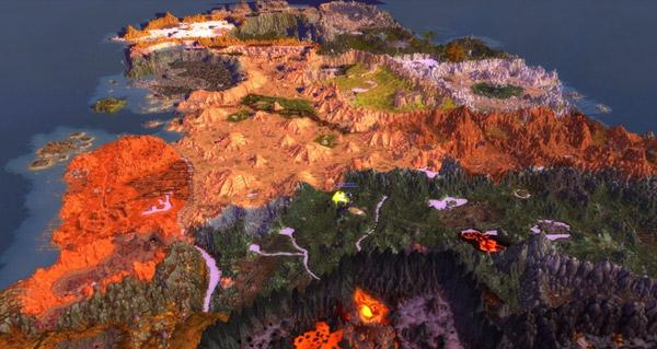 World of Warcraft vu du ciel