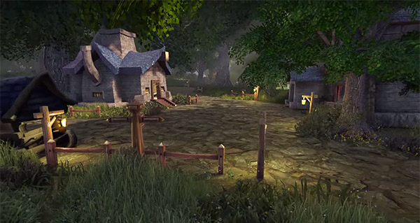 La Forêt d'Elwynn dans Unreal 4