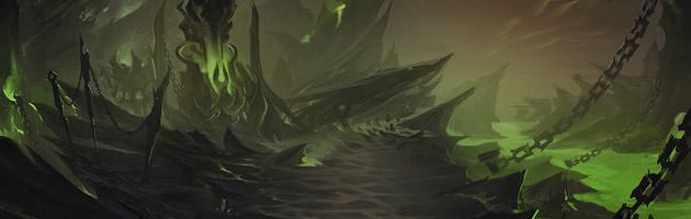 Artwork de Mardum, la zone de départ des Chasseurs de Démons