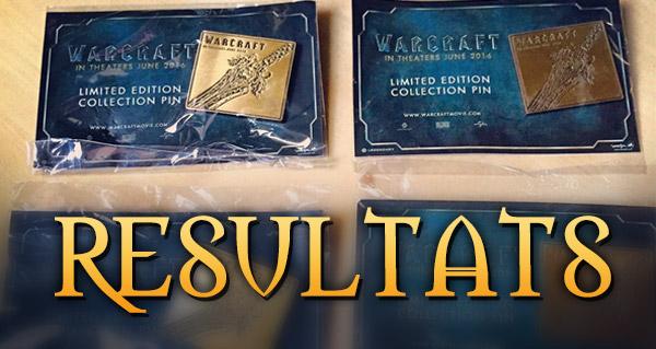 Concours pins film Warcraft : les résultats