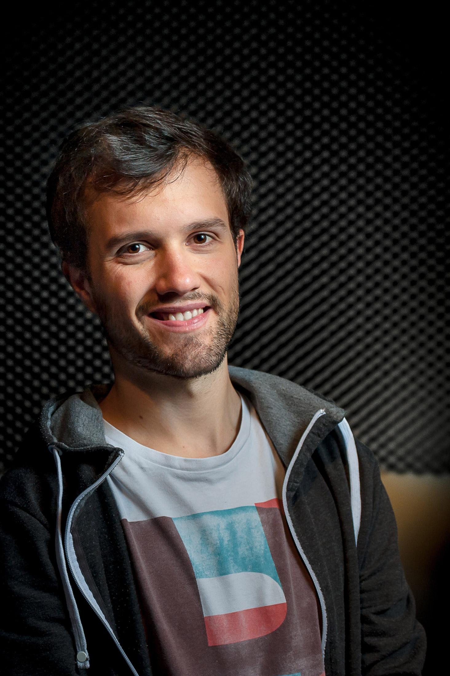 Mamytwink dans le studio d'enregistrement
