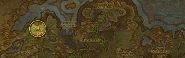 Vous pouvez trouver le Factionnaire gangrelige dans la partie nord des ruines de Kra'nak