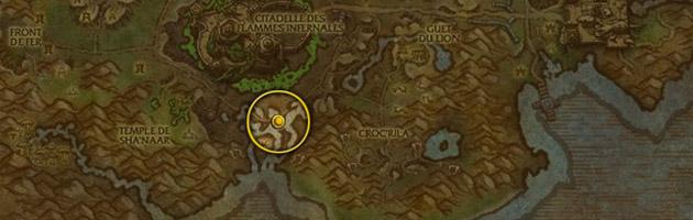 Vous pouvez trouver Fangecoasse au milieu du marécage de Zoram