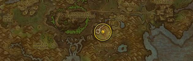 Vous pouvez trouver le Foudrequeue corrompu à l'est de la mare foudrequeue