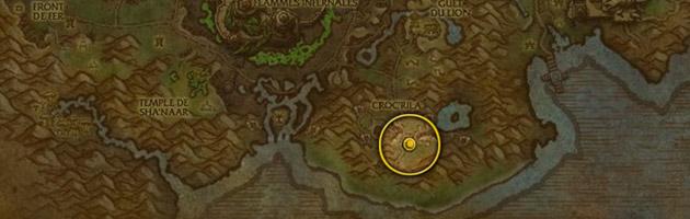 Vous pouvez trouver la Gangreluciole au centre de Croc'rila