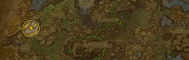 Vous pouvez trouver Morne-Serre dans la partie sud-ouest des ruines de Kra'nak