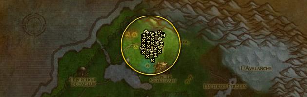 La localisation des Proto-dragonnets émeraude