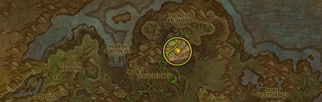 Vous pouvez trouver le Sombre contemplateur un peu avant le sommet du trône de Kil'jaeden le long de la route qui permet d'y accéder