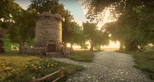 Forêt d'Elwynn dans Unreal Engine 4