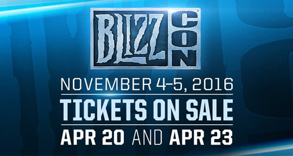 La Blizzcon 2016 : les dates