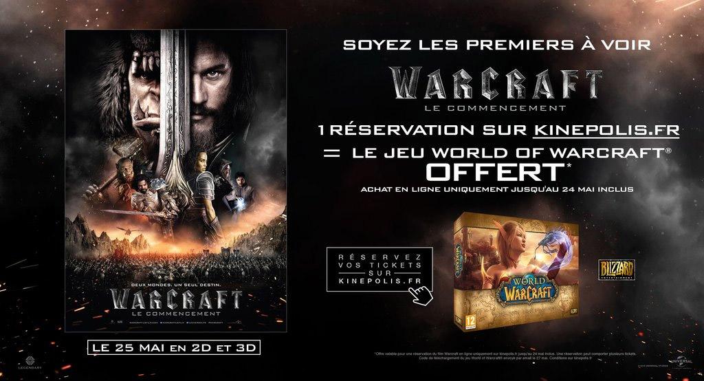L'offre de Kinepolis pour le film Warcraft