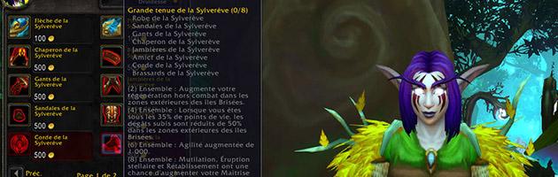 La grande tenue de la Sylverêve, l'ensemble de classe du druide