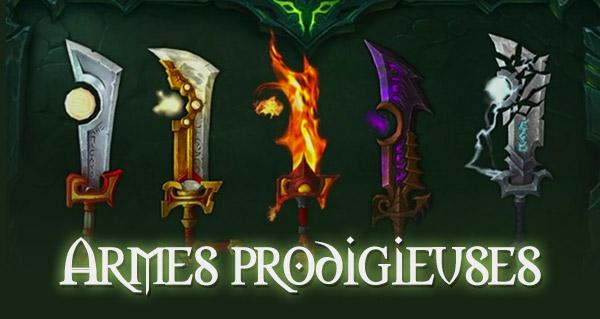Legion : le guide des armes prodigieuses