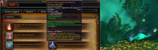 Il existe plus de 150 objets légendaires dans Legion