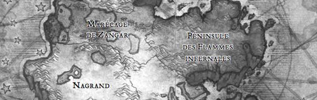 La carte de l'Outreterre au début du livre
