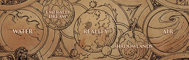 Cette illustration présente toutes les forces qui régissent l'univers de Warcraft