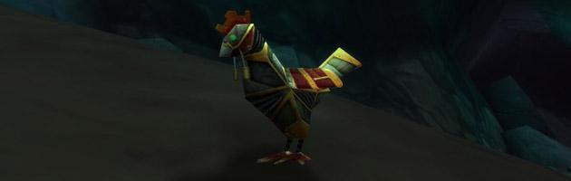 Coq de combat perturbé le nouveau méca-familier pour Chasseur