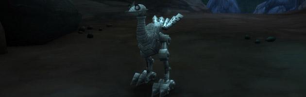 Le méca-familier Proto-trotteur dans la grotte Grotte Aile-de-fer