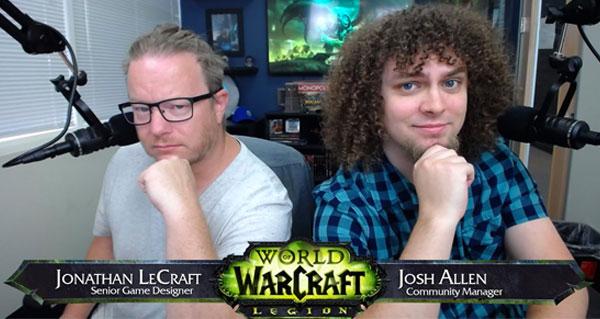 Jonathan LeCraft et Josh Allen lors du live