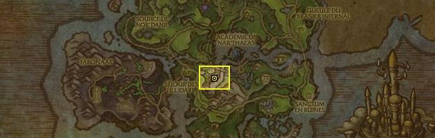 Le trésor se situe au centre d'Azsuna des Îles brisées