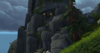 Empruntez l'accès en pierre pour atteindre l'entrée