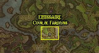 L'émissaire est situé dans le Palais croulant