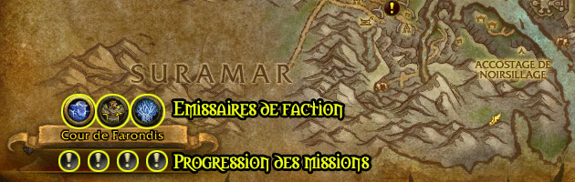 Les émissaires de faction dans les quêtes d'expédition