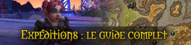 Guide des expéditions (quêtes mondiales) dans World of Warcraft