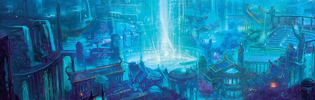 Les Elfes de la nuit bâtirent la capitale de Zin-Azshari sur la rive du Puits d'éternité