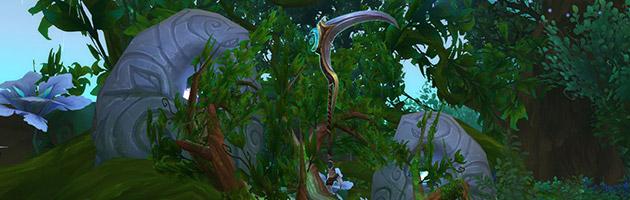 La Faux d'Élune est l'arme prodigieuse du Druide Équilibre