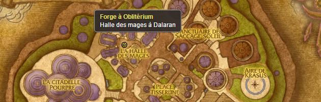 Position de la forge à oblitérium de Dalaran
