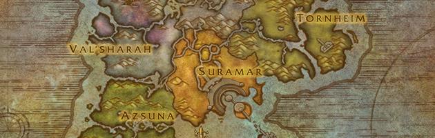 Les îles Brisées sont composées de 5 zones de quêtes