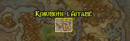 Se récupère avec l'expédition Kosumoth  l'Affamé sur l'Oeil d'Azshara aux îles Brisées