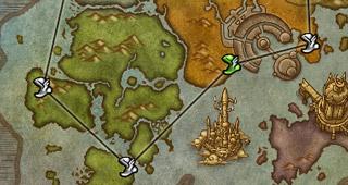 Carte des trajets aériens