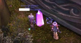 Cristal éphémère à Azsuna