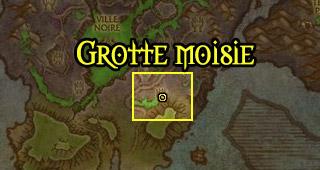 Emplacement de la Grotte moisie