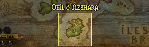 L'Oeil d'Azshara est située au Sud des îles Brisées