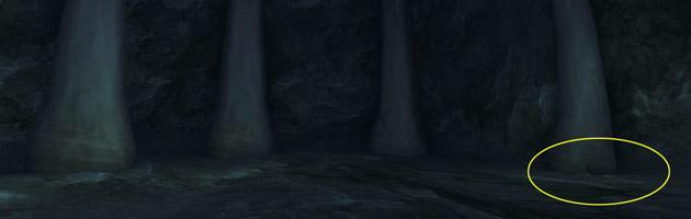 Récupérez la Relique érodée dans la Grotte moisie