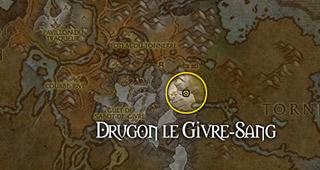 Drugon se trouve aux Falaises du Voile Blanc