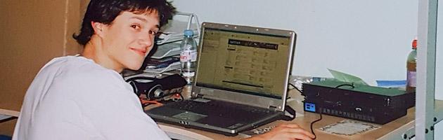 Moi, à mes débuts en développement web